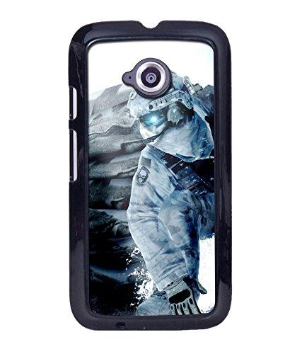 Crazymonk Premium Digital Printed Back Cover For Moto E988