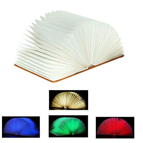 LED Folding Buchlicht, Yannuo 360°Flip Nachtlichter, Variable 4 Farben Dekorative Lichter, Kreative Valentinstag / Geburtstagsgeschenk (S) (Lite-source-welt)