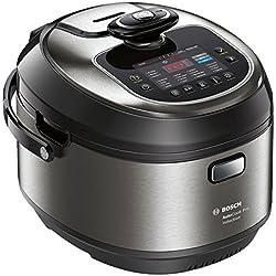 Bosch MUC88B68ES AutoCook Robot de Cocina, 1200 W, 5 litros, Acero y Negro