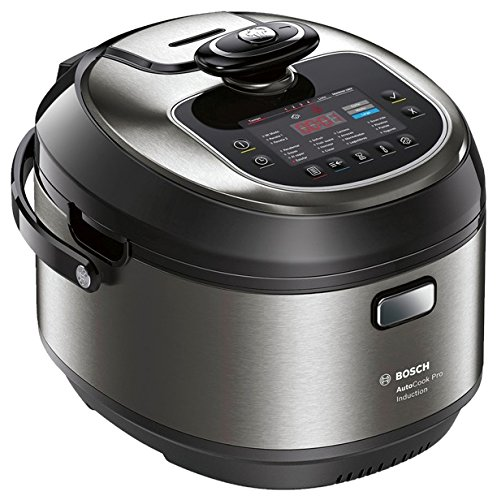 Bosch MUC88B68ES AutoCook - Robot de cocina multifunción, 1200 W, 5L, acero inoxidable, función presión y calentamiento por inducción