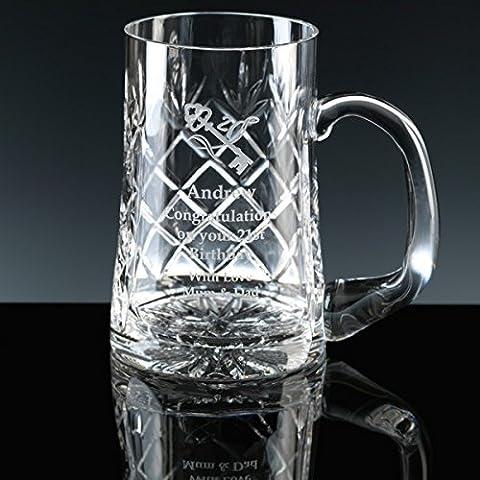 12 pinte Earle, con disegno boccale in cristallo al piombo, in vetro, con un regalo perfetto per un'occasione speciale, confezione regalo