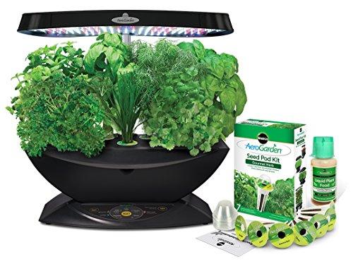 Miracle-gro aerogarden classic 7(led) con gourmet herb seed pod kit