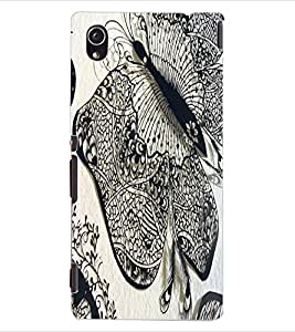 ColourCraft Butterfly Art Design Back Case Cover for SONY XPERIA M4 AQUA