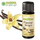 MADENA Flavour Drops/Flavor Drops | Vanille | natürliches Aroma | vegan | zuckerfrei | darmfreundlicher Milchsäurebildner | 30ml | made in Germany
