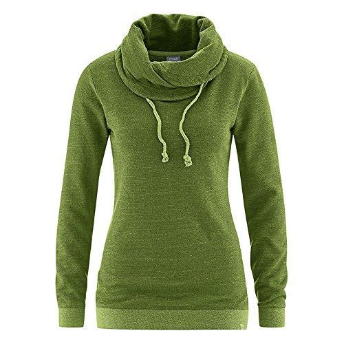 HempAge Damen Pullover Bio-Baumwolle/Hanf Weed M (Pullover Hanf Baumwolle)