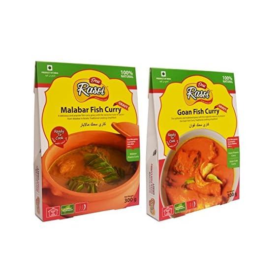 Desi Rasoi Combo - Malabar Fish Curry + Goan Fish Curry (Pack of 2) 300g each
