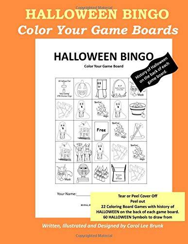 Halloween Bingo: Color Your Own Game Boards: Volume 1 por Carol Lee Brunk