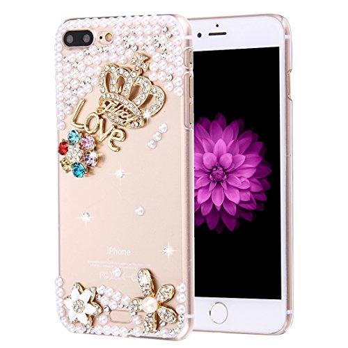Hülle für iPhone 7 plus , Schutzhülle Für iPhone 7 Plus Diamond verkrustet drei Schmetterlinge Pattern PC Schutzhülle Back Cover ,hülle für iPhone 7 plus , case for iphone 7 plus ( SKU : IP7P0099C ) IP7P0099U