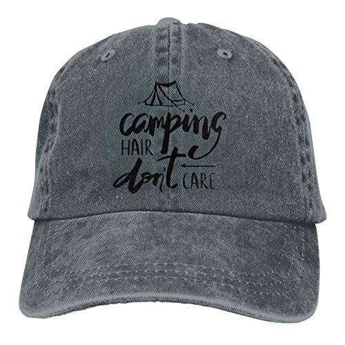 Preisvergleich Produktbild Presock Camping Hair Don't Care Cowboy Cap Unisex Adjustable Trucker Baseball Hat Deep Heather