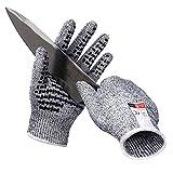 QIANGGAO Schnittfeste Handschuhe Food Grade Level 5 Schutz, Sicherheit Küche schneidet Handschuhe Arbeitshandschuhe Hochleistungs-Schutzhandschuh für Küchen-Gartenhaus,M