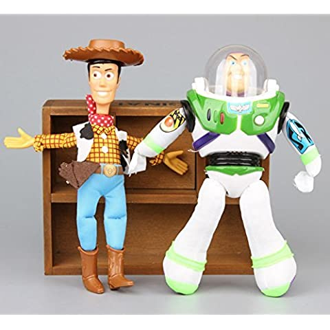 TOY STORY - 2 PELUCHES BUZZ LIGHTYEAR & WOODY 20cm / 2 PLUSH TOYS SET