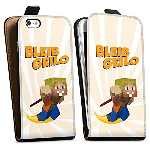 Apple iPhone X Silikon Hülle Case Schutzhülle LPmitKev Fanartikel Merchandise Bleib Geilo Weiß Downflip Tasche schwarz