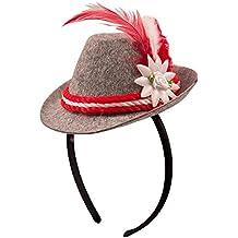 b60707a75f Folat 'Mini cappello bavarese O' zapft is con cerchietto per capelli 10 cm