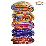 #7: Goyal's Single Bed Multicolor Printed Fleece Blanket - Set of 5