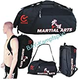 "BAY® XL Sporttasche ""Martial Arts"" im Rucksack Syte shoulder bag Kickboxen Kick-Boxen"