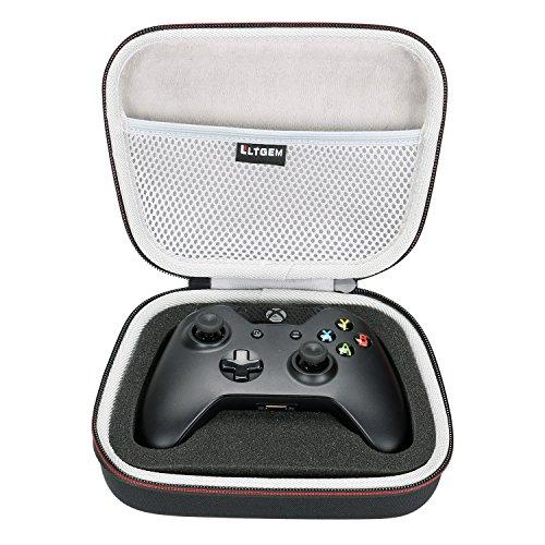 LTGEM EVA Hart Fall Reise Tragen Tragbar Lagerung Tasche für Microsoft Xbox One Controller mit Mesh TascheFits Stecker und Kabel.