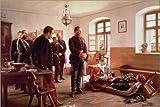Posterlounge Holzbild 30 x 20 cm: Kronprinz Friedrich Bei der Leiche des Generals Douay von Anton Alexander von Werner/Bridgeman Images