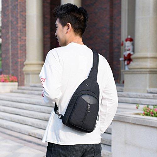 11b16c2b8875d ... Brusttasche Sling Rucksack Schultertasche Brusttaschen für Damen und  Herren Daypack Militär Freizeit Verschleißfest Atmungsaktiv Sporttasche  blaurot