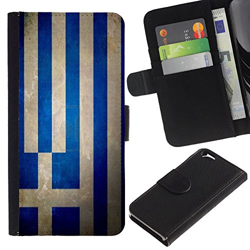 Graphic4You Vintage Uralt Flagge Von Schottland Schottisch Design Brieftasche Leder Hülle Case Schutzhülle für Apple iPhone 6 / 6S Griechenland Griechisch