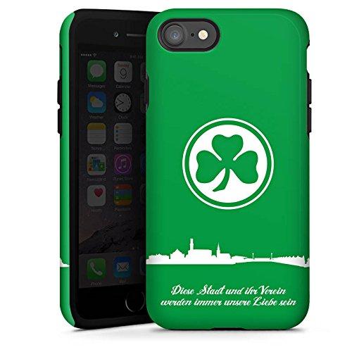 Apple iPhone 5s Tasche Hülle Flip Case SpVgg Greuther Fürth Fanartikel Fußball Tough Case glänzend