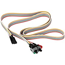 TOOGOO(R) ATX PC Computer Motherboard Power Cord 2 Switch On With LED Light On/ Off/ Reset