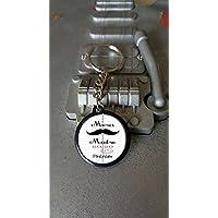 Porte clés Merci Maitre + Prénom