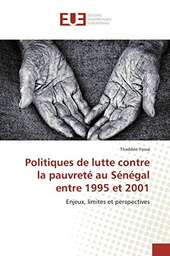 Politiques de lutte contre la pauvreté au Sénégal entre 1995 et 2001