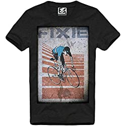 E1SYNDICATE T-SHIRT VINTAGE FIXED GEAR FIXIE DISOBEY BLOGGER HIPSTER SUPREME AN S-XL