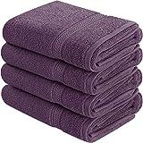Utopia Towels - Handtücher Set aus Baumwolle 600 GSM - 100% Baumwolle, 41 x 71 cm - 4er Pack - Pflaume