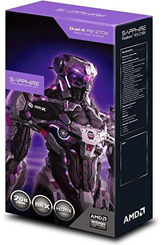 Sapphire 270X 11217-01-20G Dual-X Radeon R9 ATI Grafikkarte (PCI-e 3.0, 2GB GDDR5-Speicher, 2x DVI, HDMI, DisplayPort, 1020MHz GPU) (Amd-grafikkarte R9 270)