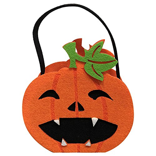 Halloween Taschen, Kürbis Candy Tote Hand Taschen für Kinder oder Kostüm, Halloween Tote Aufbewahrung Kürbisse Geister Tasche 1 Stück kürbis