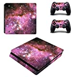 stillshine PS4 slim Skin autocollant Stickers Design Film Seconde Peau Coque pour console Sony Playstation 4 slim & 2 manettes DualShock Starry Pink