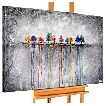 Handgemalte Bilder Auf Leinwand kunstloft acryl gemälde buoyant spirit 120x80cm original