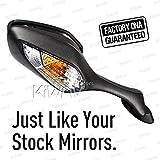 qualité d'OEM remplace FH-300 pour Honda CBR1000RR black with turn signal 1 piece DROITE