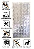 Liveinu Isolamento Termico Tenda Magnetica Per Porte Zanzariera Magnetica Con Thermo Per Camera Climatizzata Impermeabile Rete Anti Zanzare 90x200cm Giallo