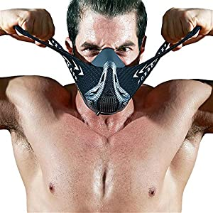 FDBRO Training Mask – Workout-Trainingsmaske – High-Altitude-Endurance-Maske erhöht die Kraft, Laufwiderstand Atemmaske mit Tragetasche