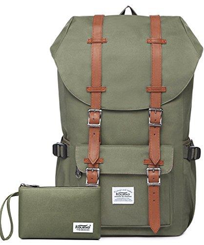 Rucksack Damen Daypack Herren Schulrucksack KAUKKO 17 Zoll Laptop Backpack für 15