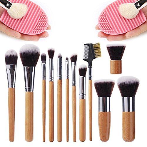 Bonice Kit de Pinceau Maquillage Professionnel 12 PCS Pinceaux de Maquillage Fondation Pinceau Poudre Ensembles Outils Fond de teint Makeup Brushes Ombre à Paupière Cosmétique Brush Beauté Maquillage Brosse