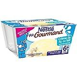 Nestlé Bébé P'tit Gourmand Crème de Riz au Lait - Laitage dès 6 Mois - 4 x 100g - Lot de 6
