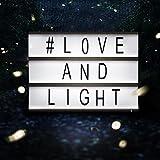 Boite LED Cinéma Boîte Lumineuse A6 avec 90 lettres, émoticônes, smileys et symboles - personnalisez votre message