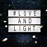 LED Kino Leichte Box Message Box mit A6, Filmischen Licht Box Leuchtschilder, Leuchten Ihrem Leben, DIY Kombination Leuchtkasten mit 90 Buchstaben, Zahlen, Symbole (A6)