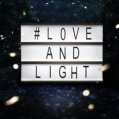 LED Kino Leichte Box Message Box mit A6, Filmischen Licht Box Leuchtschilder, Leuchten Ihrem Leben, DIY Kombination Leuchtkasten mit 90 Buchstaben, Zahlen, Symbole