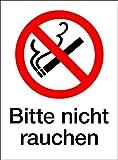 Schild Bitte Nicht Rauchen, Kunststoff, selbstklebend