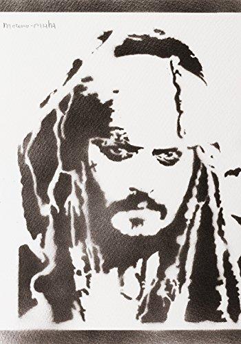 Piraten Der Karibik Bilder Kostüm - Jack Sparrow Fluch Der Karibik Poster Plakat Handmade Graffiti Street Art - Artwork
