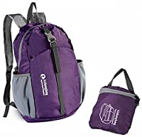 Outdoor Backpack, 20L Ultra Lightweight& Foldable Backpack- Purple