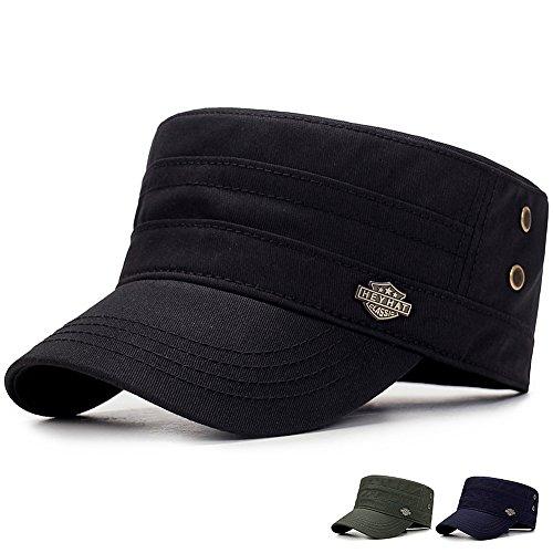 Yooeen Herren Damen Classical Military Army Cap Mütze aus robustem Baumwollcanvas
