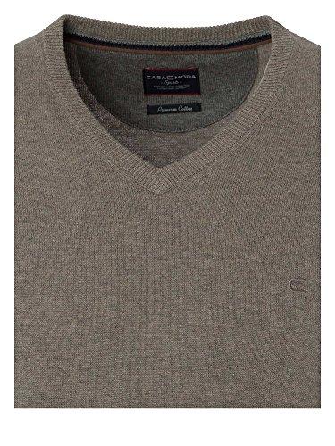 CASAMODA SPORTS Herren Pullover 401300202 100% Baumwolle extra lang TALL Hellbraun