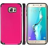Housse Etui Coque Pour Samsung Galaxy S6 Edge Plus PC + TPU Combination Case ( Color : Magenta )