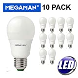 10 PACK MEGAMAN LED 9.5W WARM WHITE ES E27 GLS NONE DIMMABLE LAMP 2800K - 810 LUMEN 15000 HOURS LIFE - 10 PACK 143316