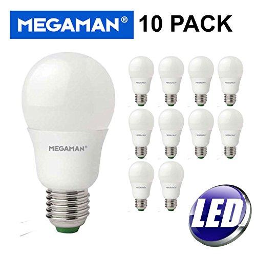 10Stück MEGAMAN LED 9,5W Warm Weiß Es E27GLS keine Lampe Dimmbar 2800K-810Lumen 15000Stunden Lebensdauer-10PACK 143316 -